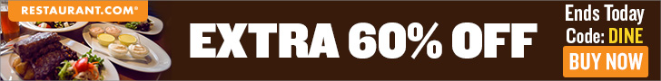Restaurant.com Weekly Promo Offer 728 x 90
