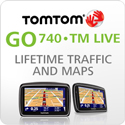 TomTomGO740TMLIVE(Lifetime Traffic & Maps Edition)