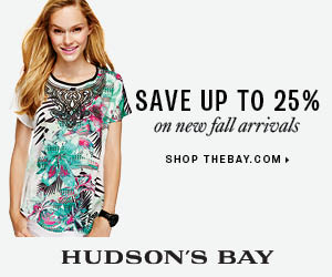 (8/1-8/21) Up to 25% off new pre-fall and fall arrivals in women's fashion at TheBay.com