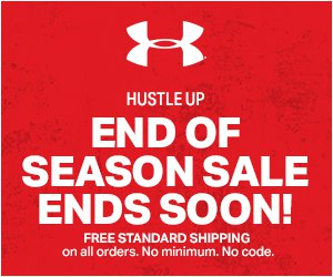 End of Season Sale: 100's of items added to UA Outlet.