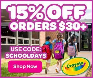 15% Off $30+ Order with SCHOOLDAYS