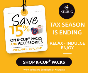 Save 15% on K-Cup® packs and accessories