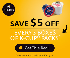 Save $5 off every 3 boxes of K-Cup® packs