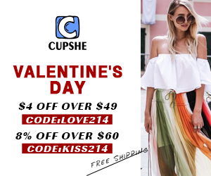 Valentine's Day! $4 Off Over $49! 8% Off Over $60! Free Shipping!