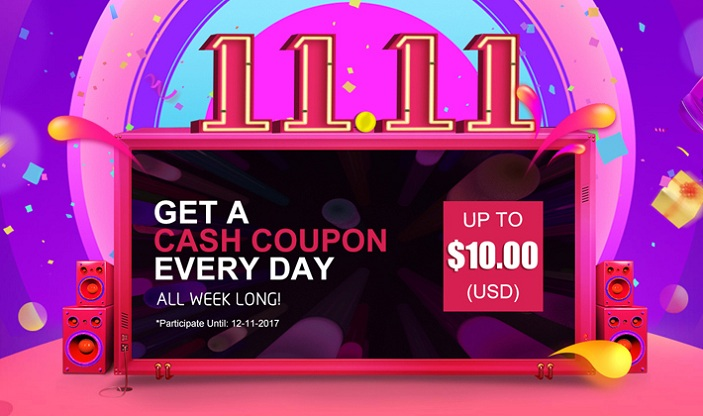 Double 11 Sales! Get A Free Cash Coupon Every Day!