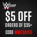 WWE Shop - $5 off