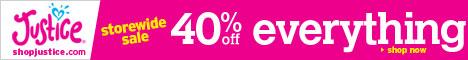Shop Justice 40% OFF Sale! Promo Code 779! Happy !