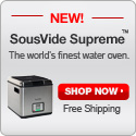 New! SousVide Supreme. Free shipping! Shop now
