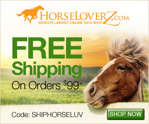 Free Shipping on Orders $99+ with code SHIPHORSELUV at HorseLoverZ.com.
