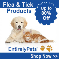Up to 80% Off All Flea & Tick Products at EntirelyPets