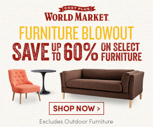 Click Here to SAVE Up To 60% OFF on Select Indoor Furniture at Cost Plus World Market and Support The Garden Oracle with Your Purchases!  Save BIG on Customer-Favorite Sofas, Coffee Tables and Much More Now Through 7/4/16!
