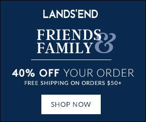 Friends and Family Event: 30% off Order -  Details: Shop our Lands' End Friends and Family Event and Receive 30% off your order!  Use code SWEET30 and pin 7358. Valid online only. Shop now. Ends 9/27.