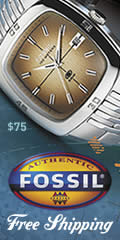 Free shipping at Fossil on watches, bags, clothing, shoes