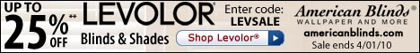 Up to 25% off Levolor Blinds & Shades