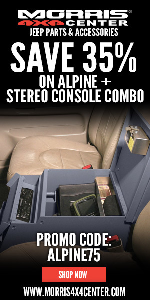 Purchase qualifying security console GET 35% OFF Alpine Radio Receiver at Morris 4x4 with CODE: ALPI