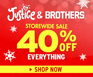 Shop Justice: 40% off with code 713