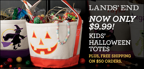 Lands' End Halloween Totes