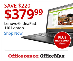 Early Black Friday Deals!  Including: Save $220, Now $379.99 - Lenovo IdeaPad 110 Laptop, 15.6