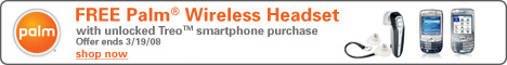 FREE Bluetooth Headset with Unlocked Treo purchase