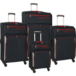 Nautica Ashore 4 Piece Expandable Spinner Luggage Set Now Only $272.97 Org. $1,360.00 Plus Free Shipping Use Promo Code ASHORE at checkout.