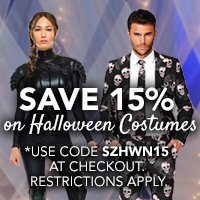 Save 15% on Halloween Costumes