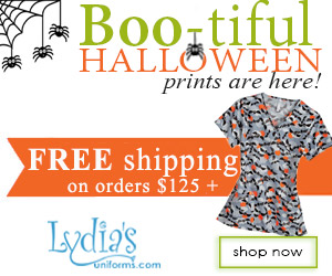 Boo-tiful Halloween Prints Are Here! Shop Lydias Uniforms for spook-tacular Halloween prints!