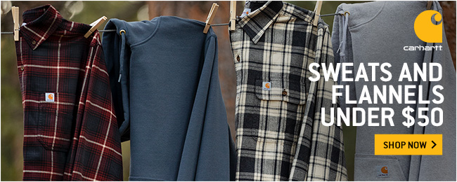 Flannels & Sweats Under $50