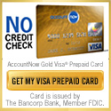 AccountNow Prepaid Visa Gold Card - No Credit Check