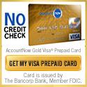 AccountNow Prepaid Visa Gold Card