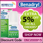 Benadryl Specials - Additional 5% Off on all orders