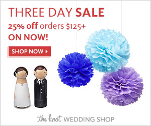3 Day Sale at The Knot Wedding Shop