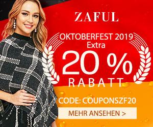 OKTOBERFEST 2019  Extra 20 % Rabatt CODE: COUPONSZF20