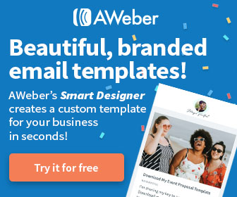 AWeber email templates banner