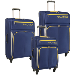 Nautica Ashore 3 Piece Expandable Spinner Luggage Set Now Only $194.97 Org. $960.00 Plus Free Shipping Use Promo Code ASHORE at checkout.