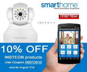 10% OFF INSTEON Products SmartHome Coupon INSTON10