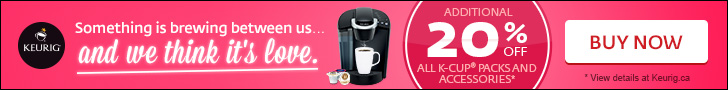 Additional 20% off all K-Cup� packs and accessories
