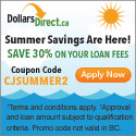 Apply today for up to $1,500 @www.dollarsdirect.ca