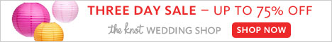 Up to 75% Off at The Knot Wedding Shop