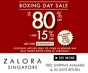 Boxing Day Sale Up to 80% + additional 15% off at Zalora!