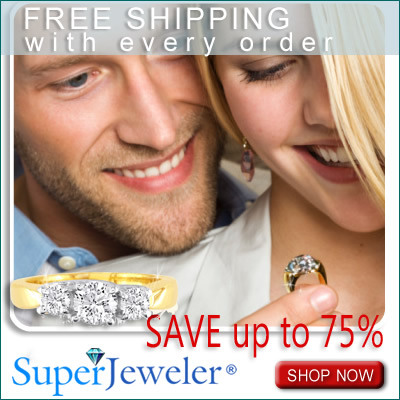 75% Off Retail & Free shipping at SuperJeweler.com