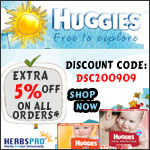 Huggies Specials - Additional 5% Off on all orders