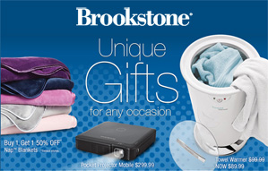 Pick up a unique gift at Brookstone!