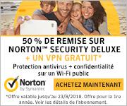 Norton Security 1 an avec Backup 10 appareils 15€ de réduction Discount Coupon Code