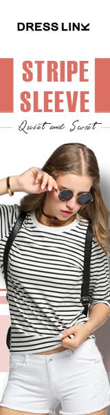 stylish Stripe sleeve, up to 82% off.