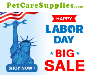 Celebrate Labor Day with Your Pet! Take 12% Extra OFF + Free Shipping. Use Coupon: PCSLD12