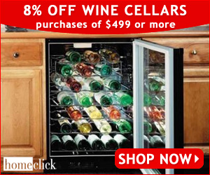 8% OFF Wine Cellar Purchases of $499 or More @ Hom