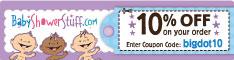 Save 10% on ALL Orders at BabyShowerStuff.com