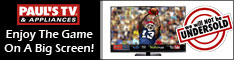 Enjoy the game on a big screen from PaulsTV.com!