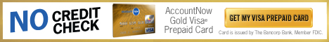 AccountNow Prepaid Visa Gold Card