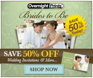 Save 50% Off Wedding Invitations and More - Bride